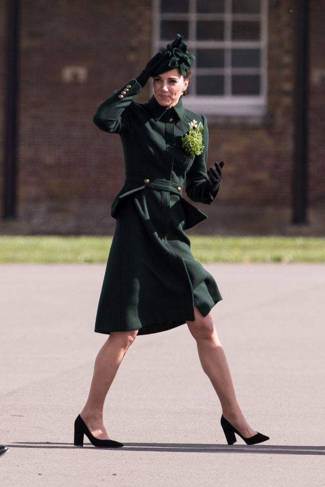 Kate Middleton stylée et très élégante en manteau vert pour la Saint-Patrick
