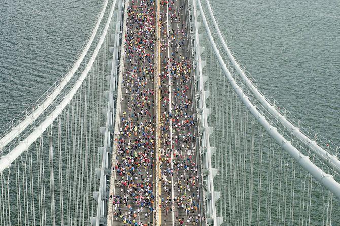 Le départ du marathon de New York sur Staten Island