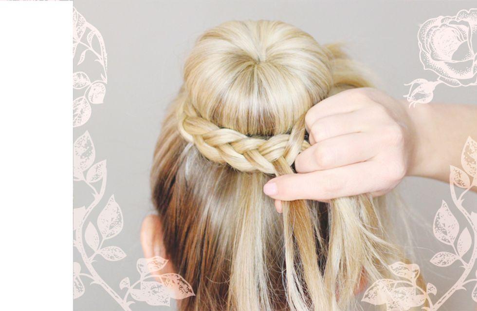 Verträumter Hochzeitslook: So kannst du deine Brautfrisur selber machen!