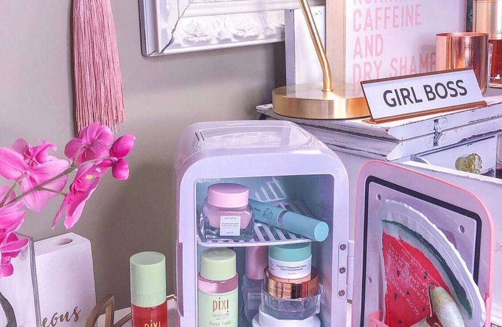 Le mini frigo pour cosmétiques, le nouvel objet tendance d'Instagram