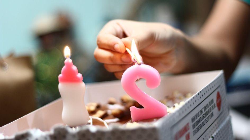 5 bougies chiffres pour votre gâteau d'anniversaire