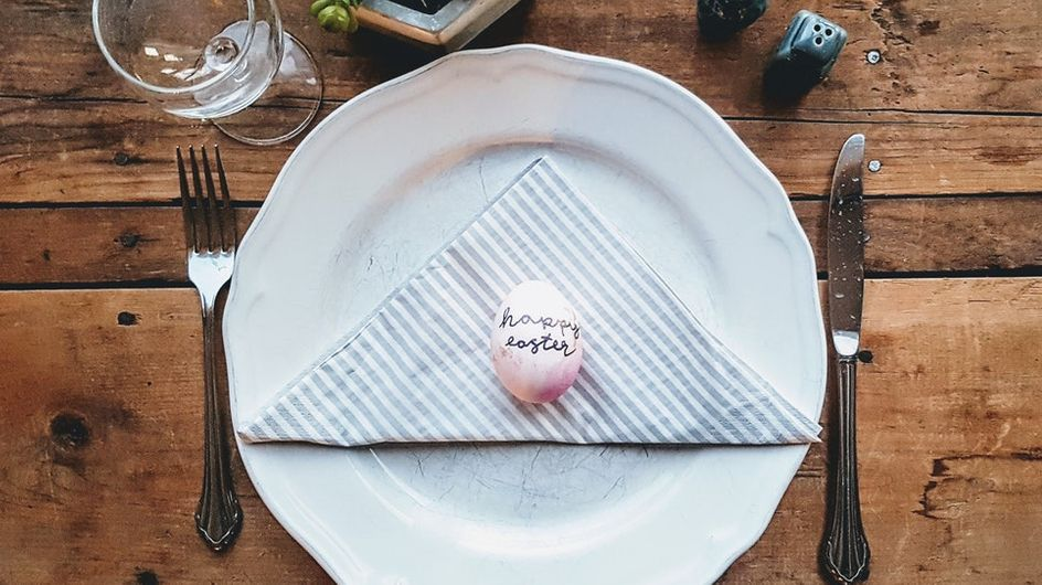 Une jolie table pour votre repas de Pâques