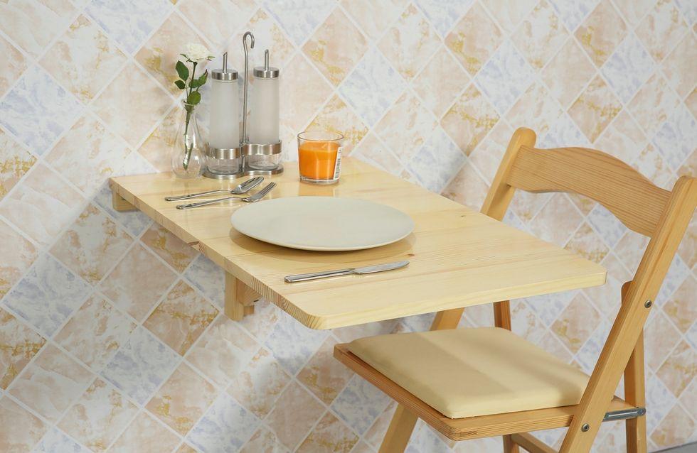 Gagnez de la place avec ces 6 tables à manger murales