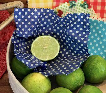 Citron emballé dans un beewrap