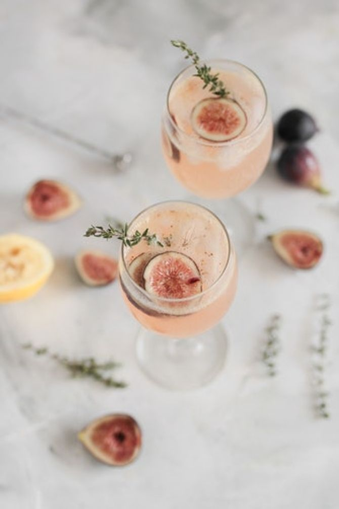 Cocktail figue et thym