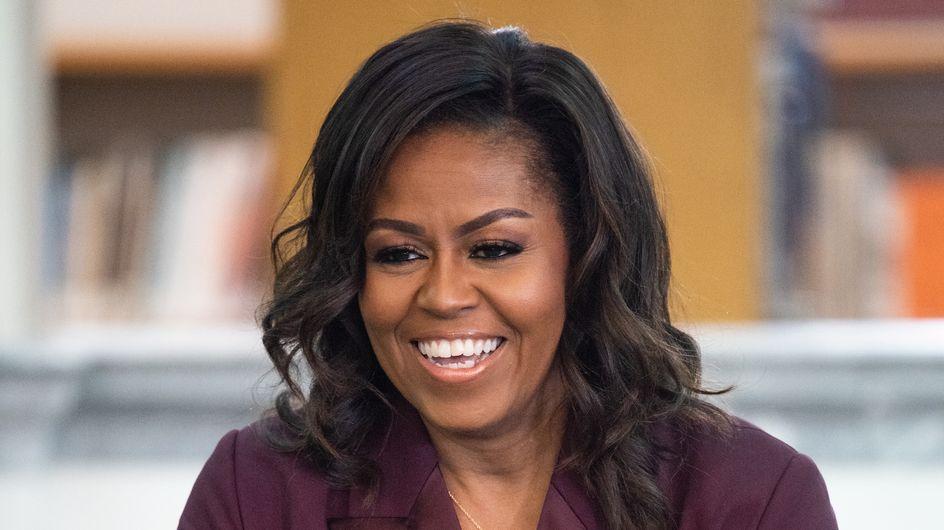 Michelle Obama fait sensation dans un costume rose à diamants (photos)