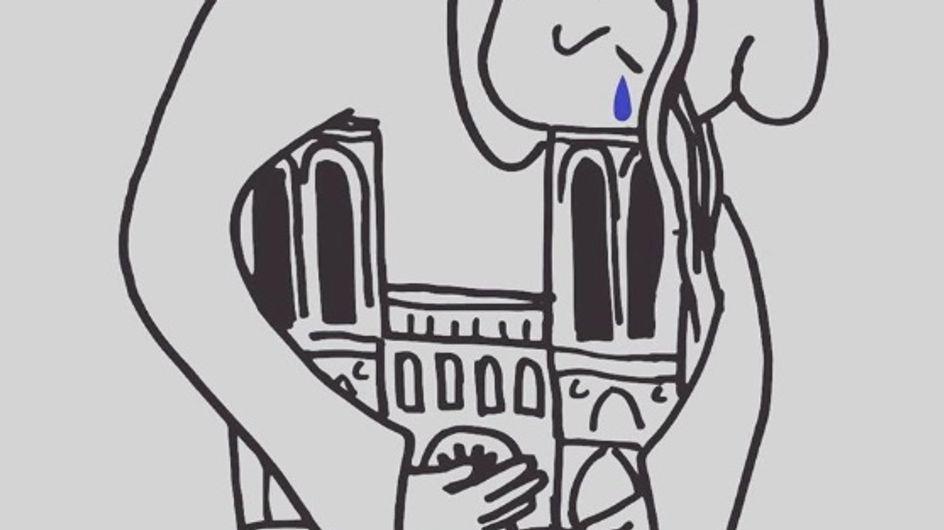 Bouleversé, le monde entier rend hommage à Notre-Dame de Paris