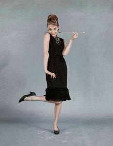 Audrey Hepburn in nero
