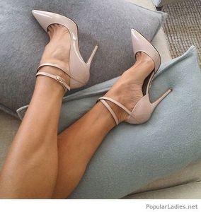 Scarpe nude a stiletto