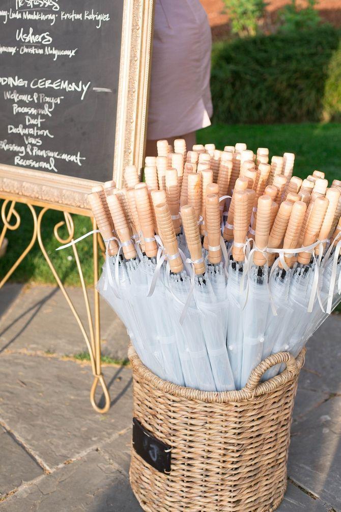 Des parapluies pour vos invités