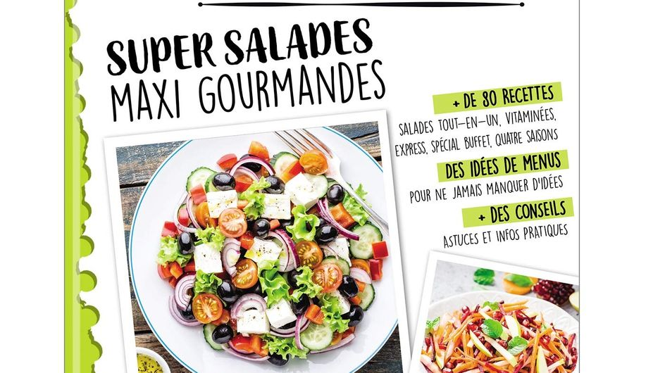 Des salades gourmandes et variées avec notre nouveau cahier gourmand !