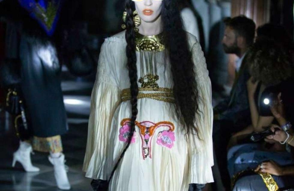 Pour défendre les droits des femmes, Gucci crée une robe brodée d'un utérus