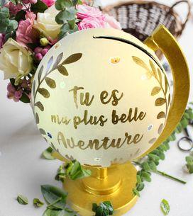 DIY : une urne de mariage originale en forme de globe terrestre