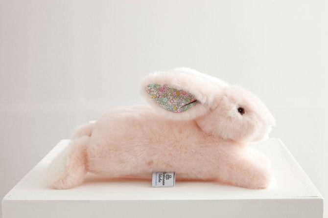 Martin le  Lapin - petit modèle- Rose liberty - 85 euros