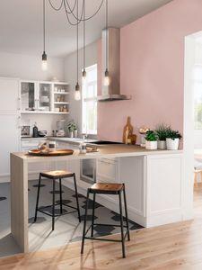 Une idée de cuisine rose pastel