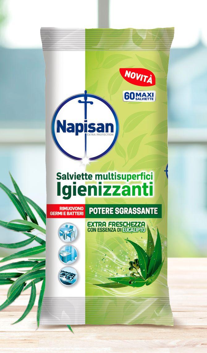 Salviette multisuperfici Igienizzanti Extra Freschezza con essenza di Eucalipto