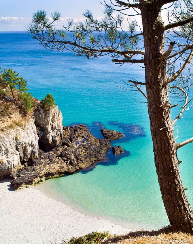 La plage de l'Ile Vierge à Crozon