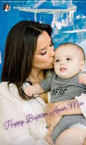 Eva Longoria dévoile les adorables clichés de Santiago lors de son baptême