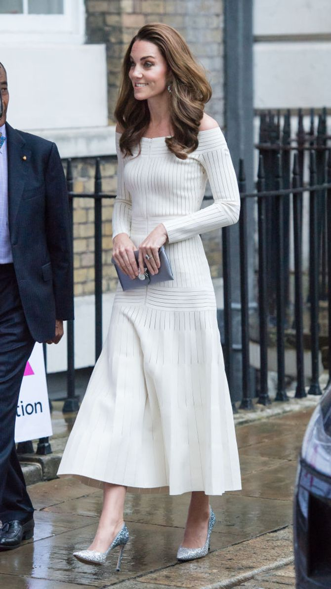 Décolleté glitter degradé di Kate Middleton
