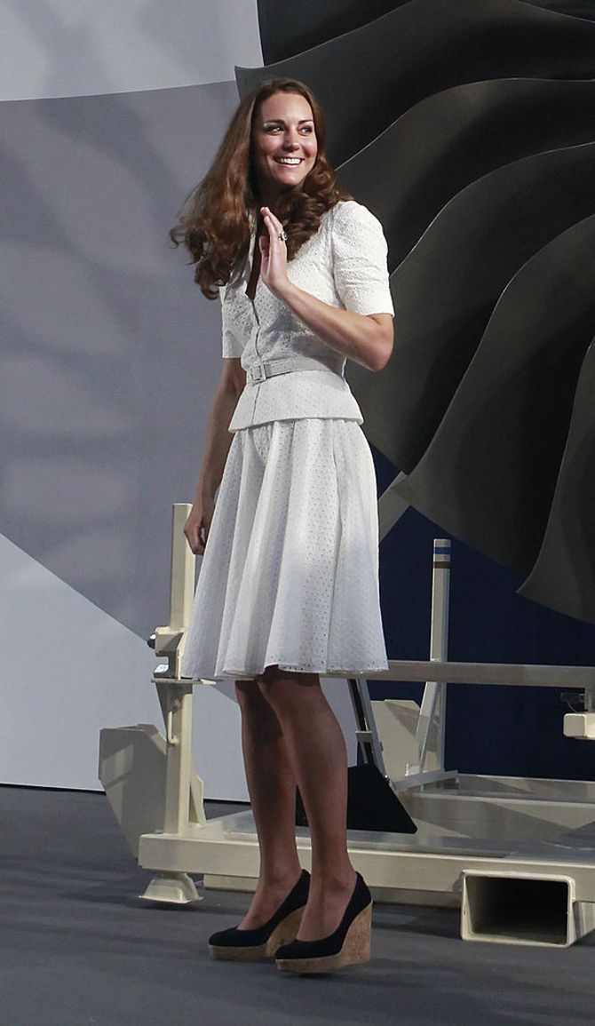 Scarpe Kate Middleton con zeppa in sughero
