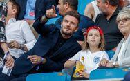 David Beckham se moque des critiques et embrasse à nouveau sa fille sur la bouch