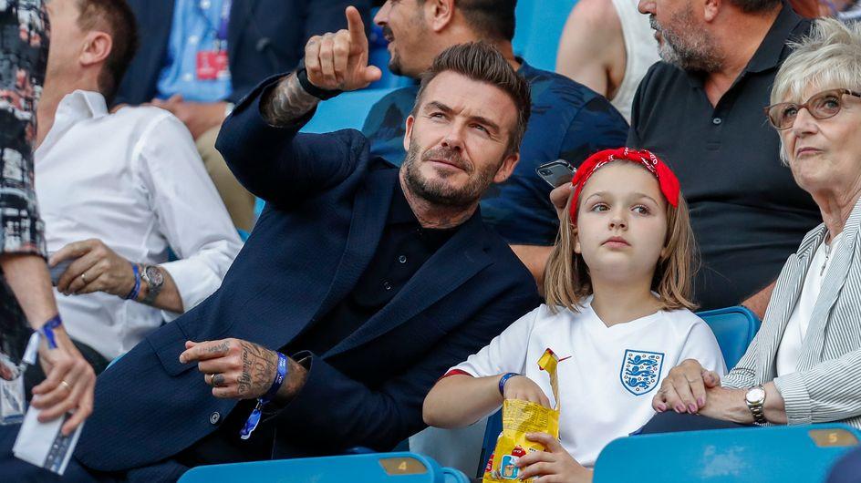 David Beckham se moque des critiques et embrasse à nouveau sa fille sur la bouche