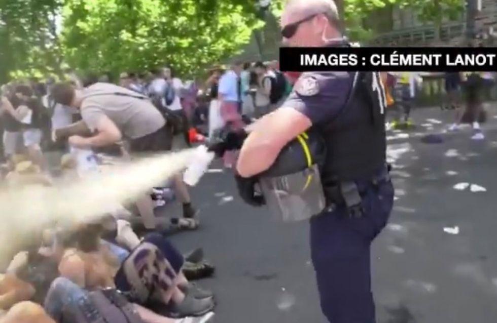 Christophe Castaner défend la police après le gazage de militants écolos à Paris