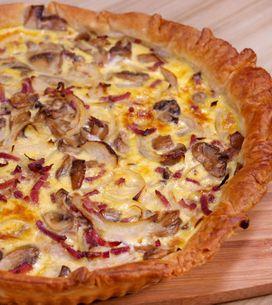 Torta salata con funghi e pancetta: la ricetta per una quiche sfiziosa!