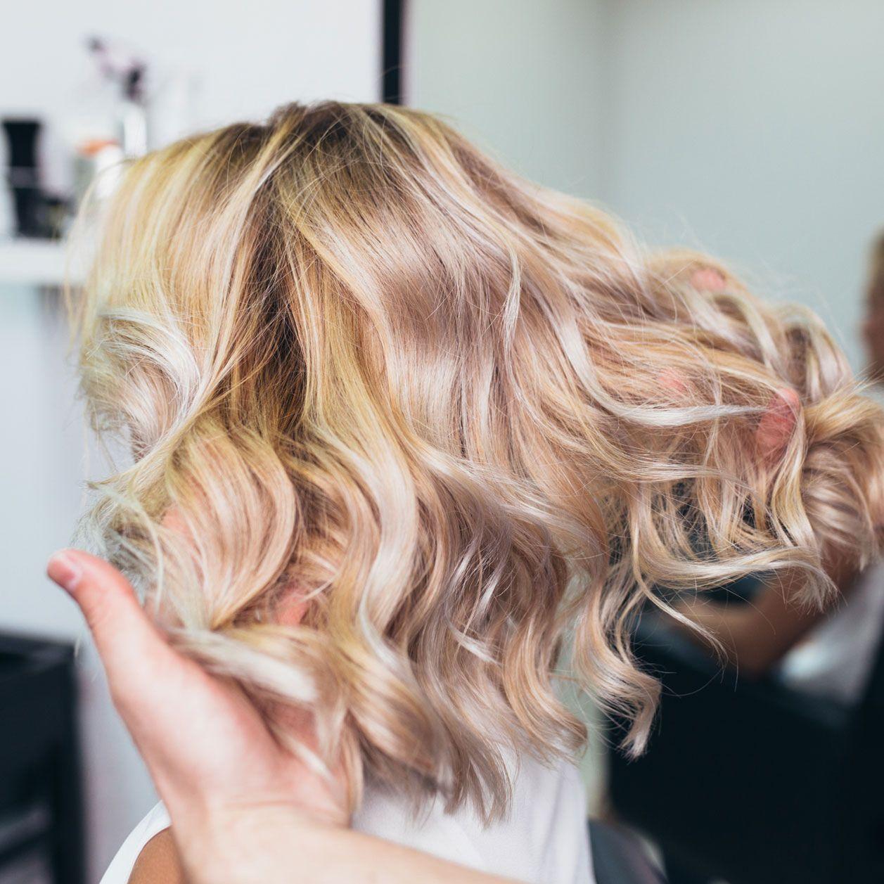 Färben blond dunkler Haarfarbe Blondtöne: