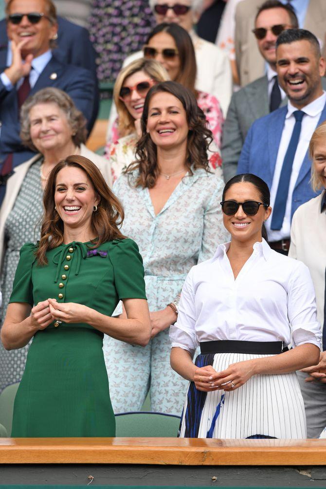 Kate Middleton et Meghan Markle, complices à Wimbledon