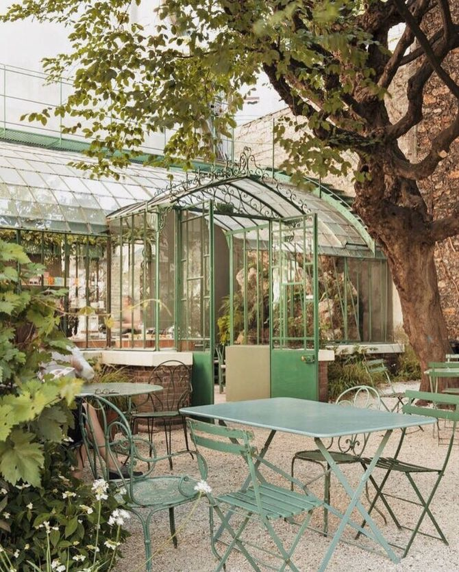 Le salon de thé du Musée de la Vie Romantique