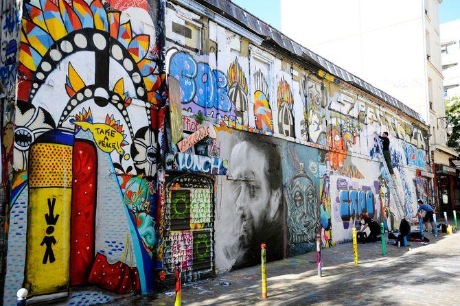 Graffitis rue Désnoyer