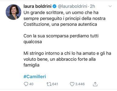 Cordoglio per Camilleri di Laura Boldrini