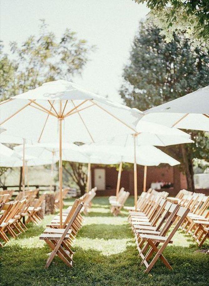 Parasols pour un mariage en plein air