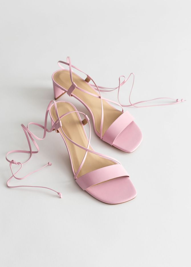 Strappy Sandals in Zartrosa von & Other Stories, 89 €
