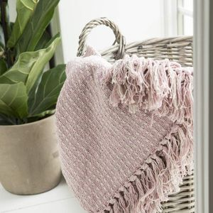 Plaid de algodón rosa de Laursen IB