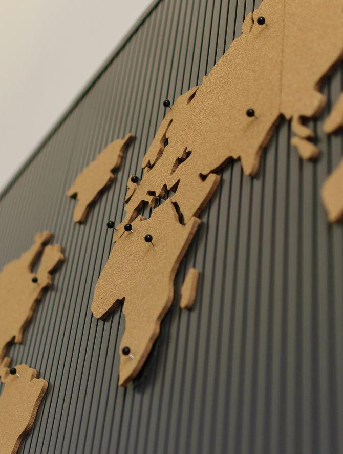 Corcho del mapa del mundo
