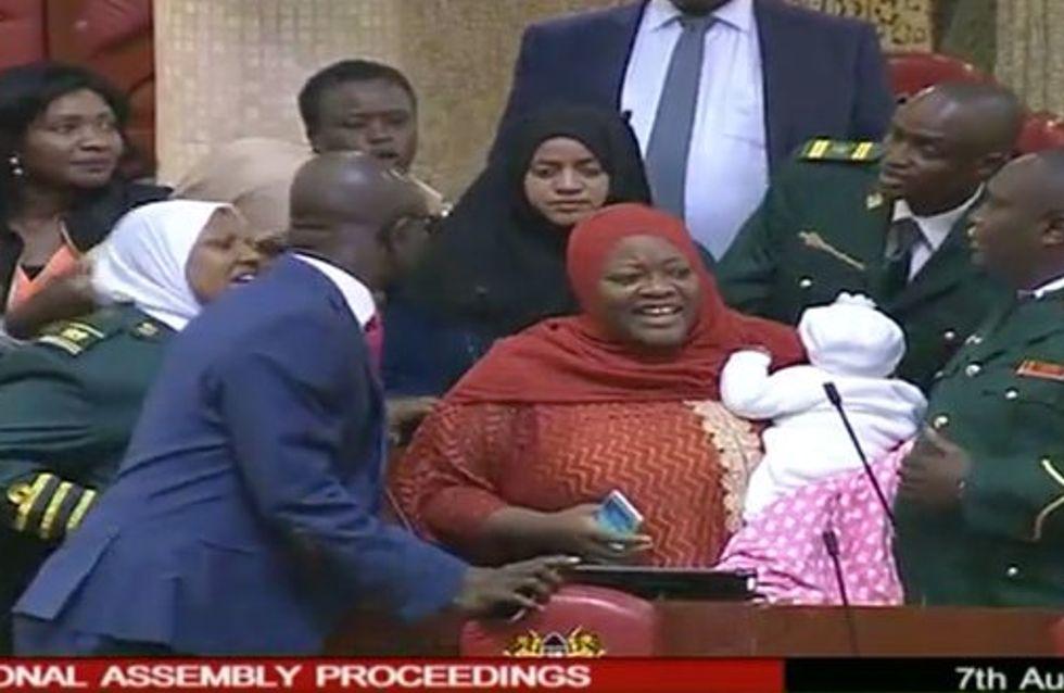 Obligée de venir avec son bébé, une députée kenyane a été priée de quitter le Parlement