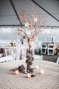 Une décoration de table pour un mariage en hiver