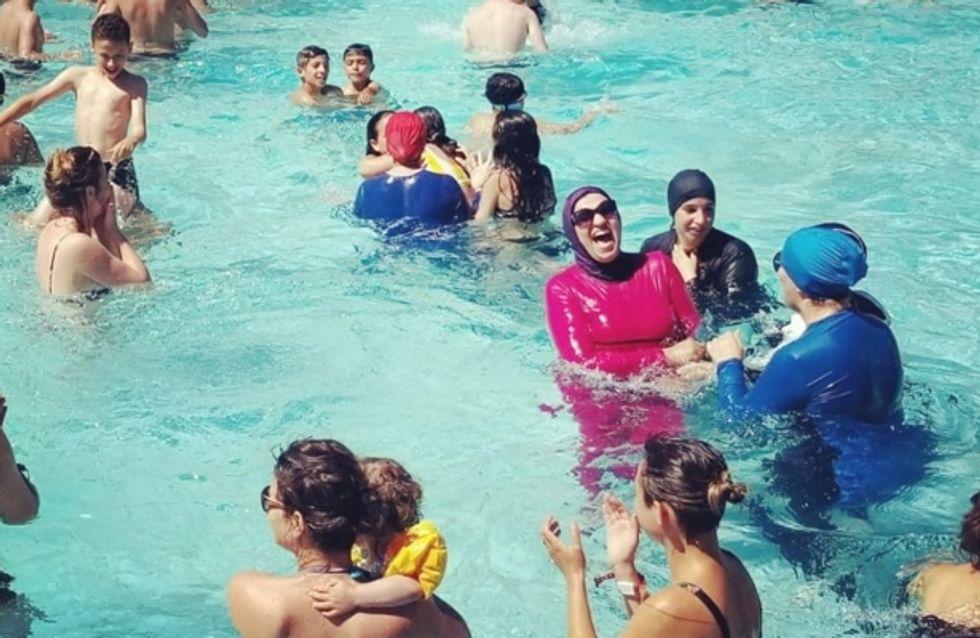 En burkini, des militantes provoquent la fermeture d'une piscine à Paris