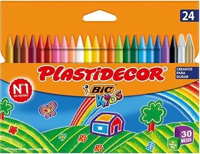 BIC Kids Plastidecor - Ceras de colores 2 4unidades