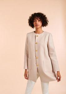 Manteau beige en laine, 350€