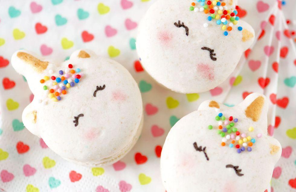 Naschkatzen und Unicorn-Lovers aufgepasst: Jetzt gibt es Einhorn-Macarons!