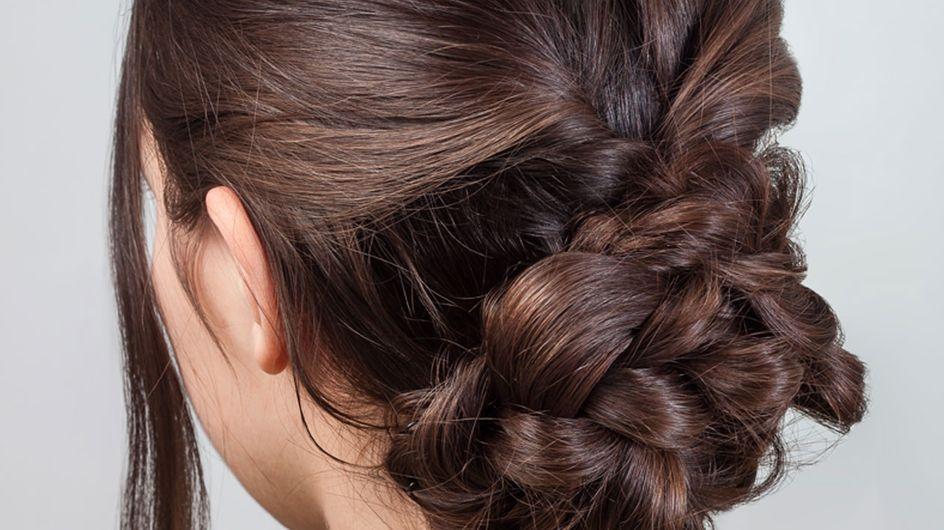 Geflochtener Dutt: Mit dieser Anleitung klappt die edle Frisur