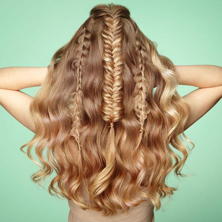 Lange haare hinten zusammenstecken – Pony frisur