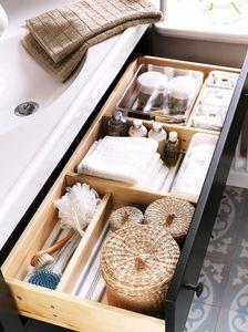 Rangement tiroirs de salle de bain