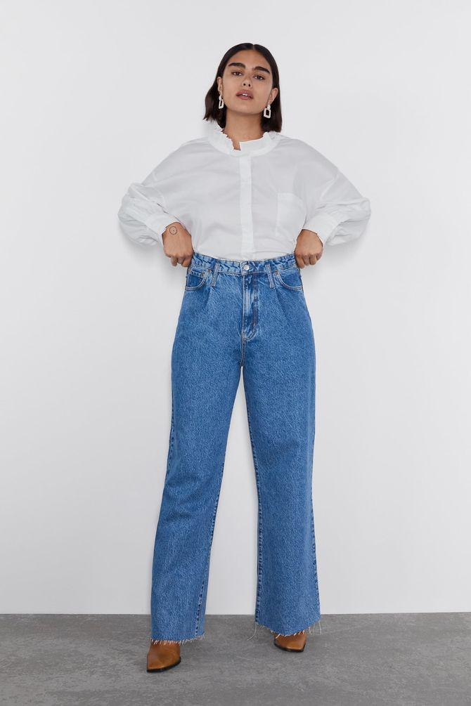 Jean taille haute, 49,95€