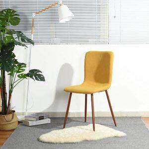 Juego de sillas de comedor Coavas en color mostaza