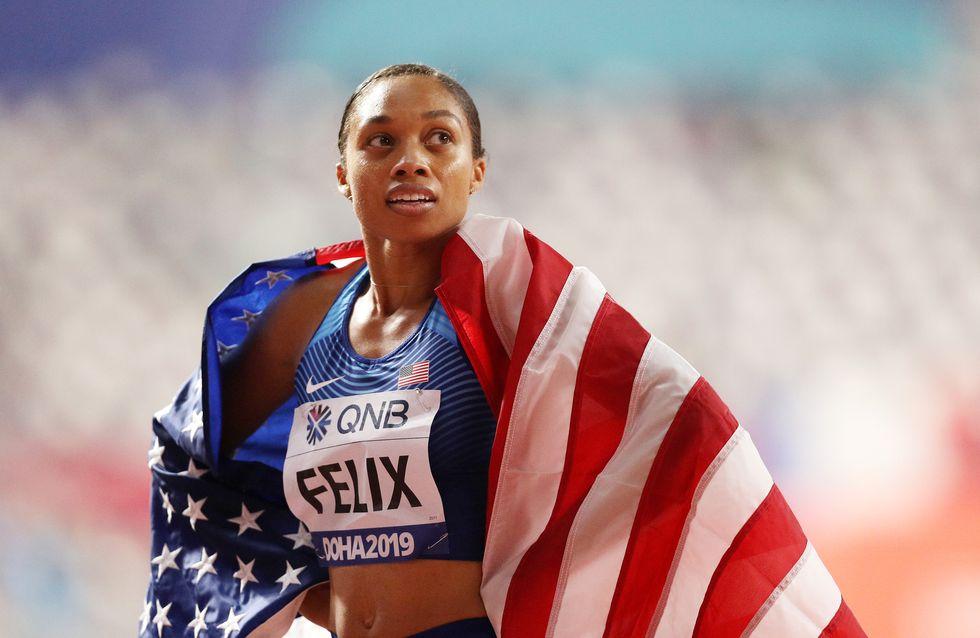Seulement 10 mois après avoir accouché, Allyson Felix détrône Usain Bolt