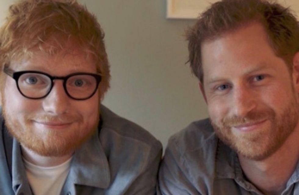 Le prince Harry et Ed Sheeran s'associent pour la bonne cause, Nul besoin de souffrir en silence